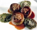 Receta: Alcachofas rellenas de foie y habas