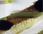 Receta: Gallo gratinado con cardos trufados