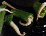 Receta: Pimientos verdes rellenos de chipirones