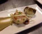 Receta: Vieiras con alcachofas en texturas