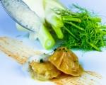 Receta: Raviolis de cigala con sopa de hinojo