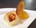 Receta: Torrija de coco con helado de mango