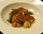 Receta: Salteado y cristales de verduras con jugo de cebolla