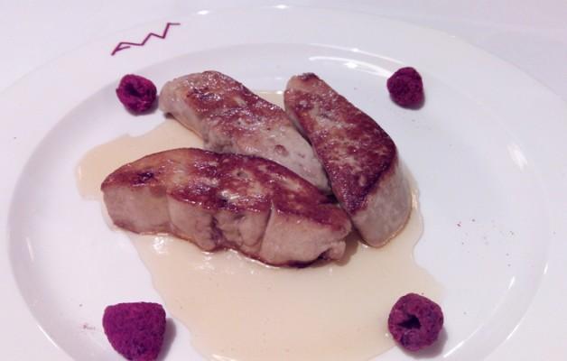 Receta: Foie ahumado con té rojo y frambuesa liofilizada