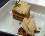 Receta: Pastel de limón y albaricoque con helado de caramelo