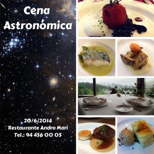 Cena Astronómica Andra Mari