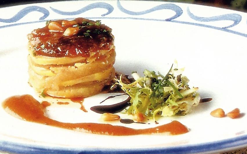terrina de foie-gras con higos y reducción de vino dulce