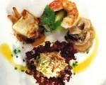 Receta: Ensalada de mariscos y frutas frescas