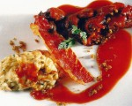 Receta: Caracoles a la vizcaína con risotto de setas