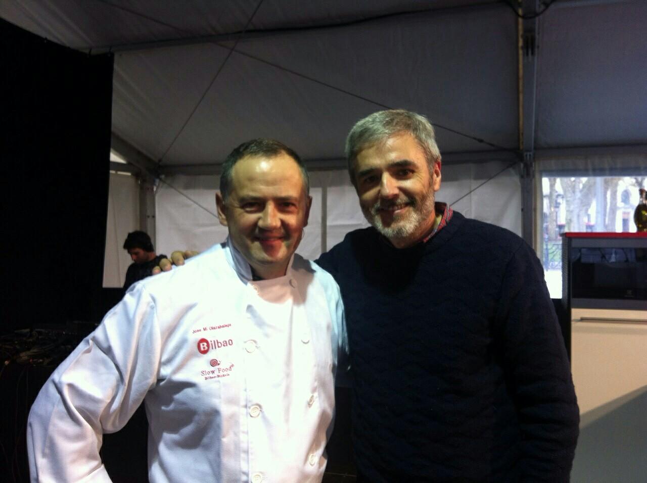 Jose Miguel Olazabalaga y Mikel López Iturriaga