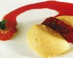 Receta: Mousse de vainilla con galleta y salsa de zanahoria