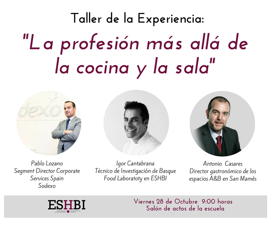 Teller de la Experiencia Escuela Superior Hostelería de Bilbao