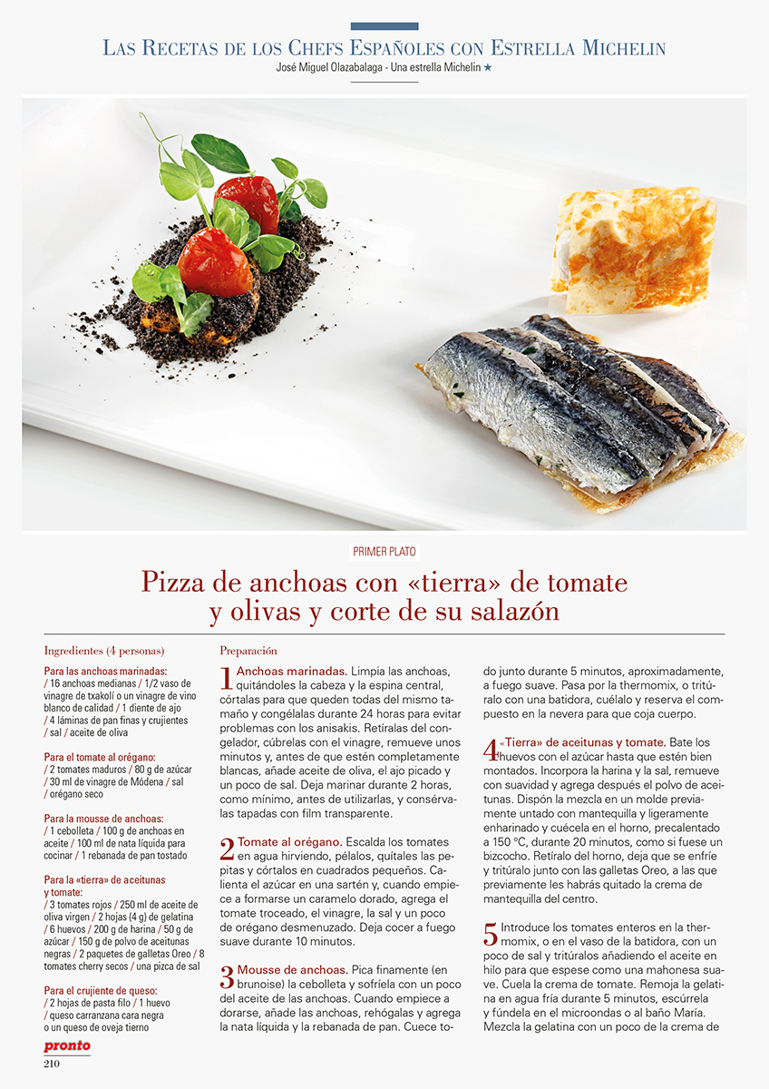 Noticia la cocina de aizian en la revista pronto gure for Revista pronto primicias ya