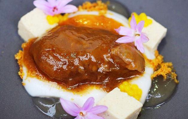 Receta: Castañuela ibérica, coco y yuzu