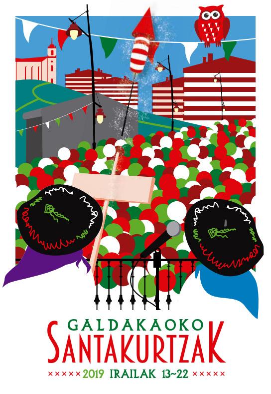 Cartel Santakurtzak Galdakao