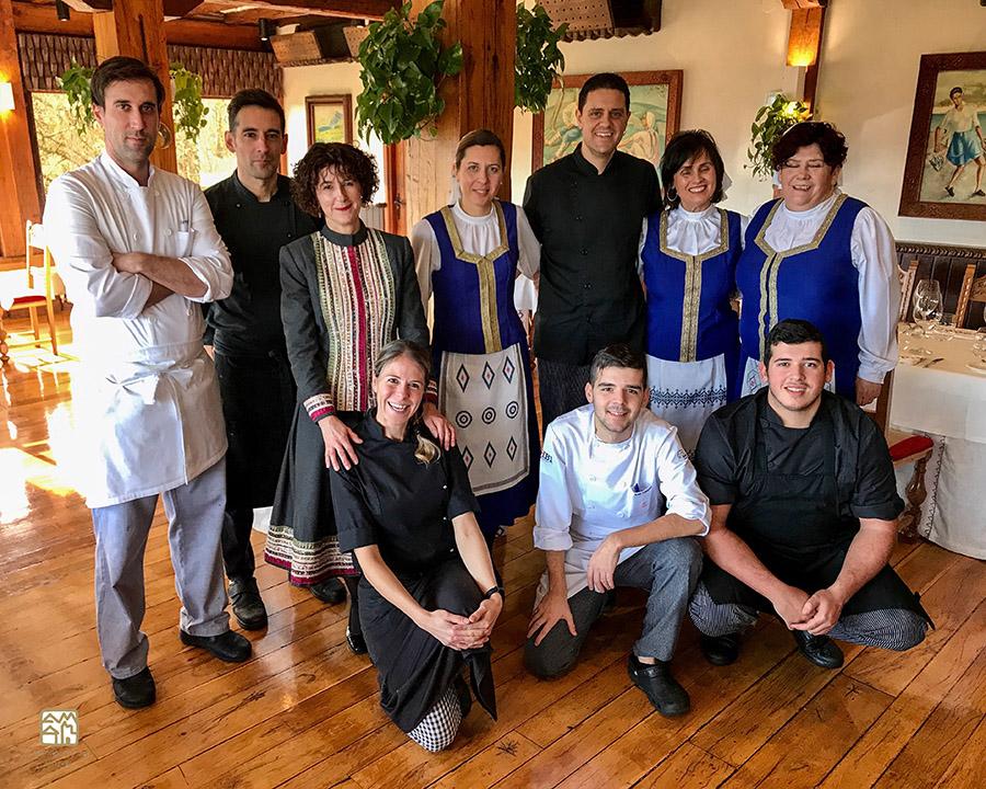 Equipo restaurante Andra Mari Galdakao